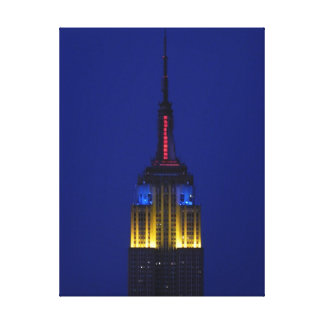 Empire State Building in Comic Book colors Stretched Canvas Prints