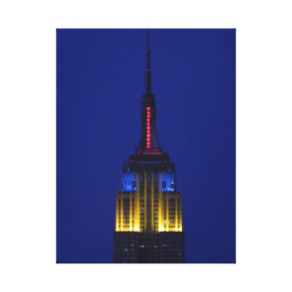 Empire State Building in Comic Book colors Gallery Wrap Canvas