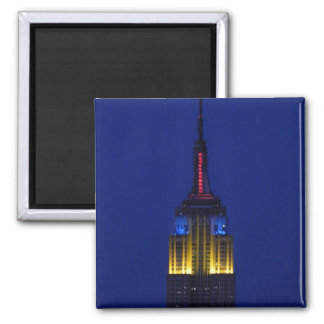 Empire State Building in Comic Book colors Magnets