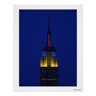 Empire State Building in Comic Book colors Poster