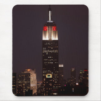 Empire State Building in Red & White, 30 Rock Mouse Pads