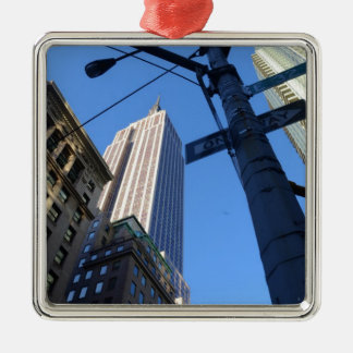 Empire State Building Manhattan Metal Ornament