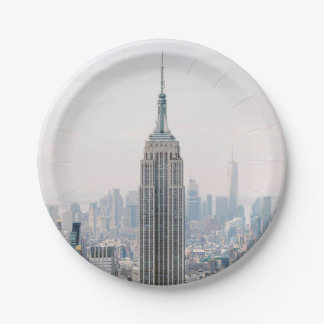 Empire State Building Manhattan New York Paper Plate