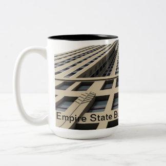 Empire State Building, New York City Two-Tone Coffee Mug