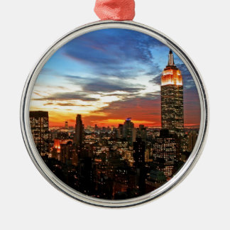 Empire State Building New York Metal Ornament