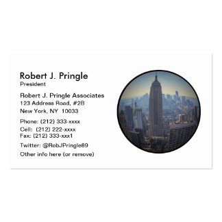 Empire State Building, NYC Skyline, Fish Eye View Business Card