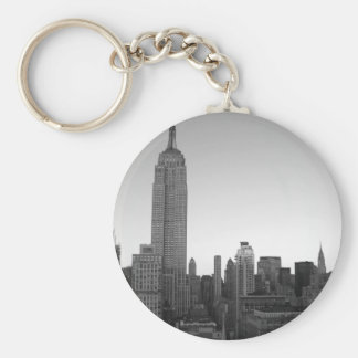 Empire State Building Photo 2 Basic Round Button Key Ring