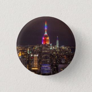 Empire State Building Pride 3 Cm Round Badge