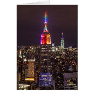 Empire State Building Pride Card