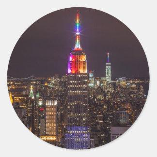 Empire State Building Pride Classic Round Sticker