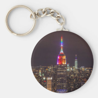 Empire State Building Pride Key Ring