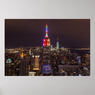 Empire State Building Pride Poster