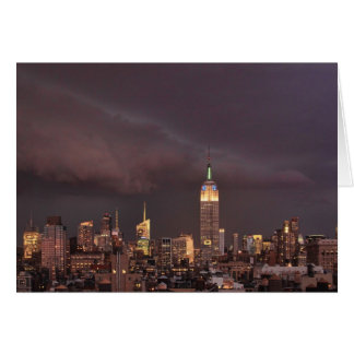 Empire State Building, shark-like cloud approaches Card
