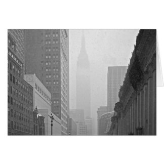 Empire State Building - Snowy Day Greeting Card