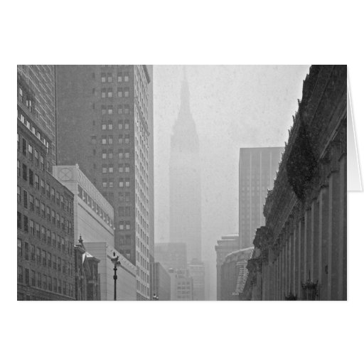 Empire State Building - Snowy Day Greeting Cards