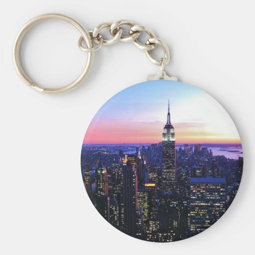 Empire State Building: Sunset Key Chain