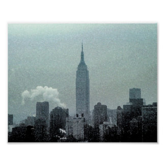 Empire State Building Watercolor 8x10 Poster