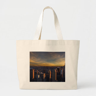 empire state sunset large tote bag