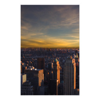 empire state sunset personalised stationery