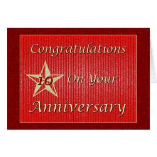 Employee 10th Anniversary Gold Star Cards
