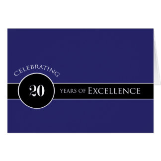 Employee 20th Anniversary Circle of Excellence Card
