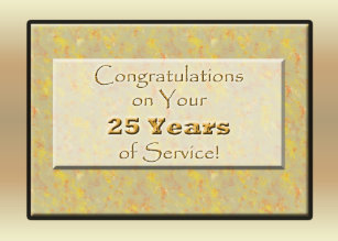 employee 25 years of service or anniversary card - Employee Anniversary Cards