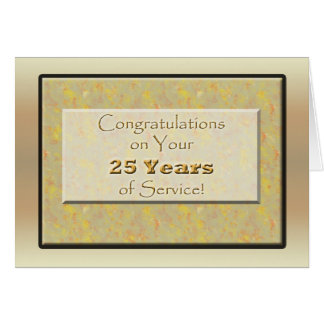 Employee 25 Years of Service or Anniversary Card