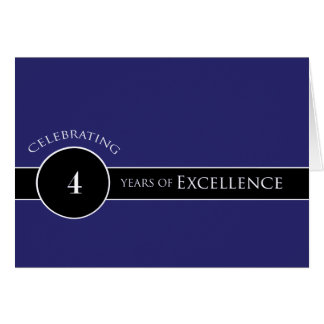 Employee 4th Anniversary / Circle of Excellence Card