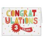 Employee Anniversary 3 Years Fun Congratulations Card