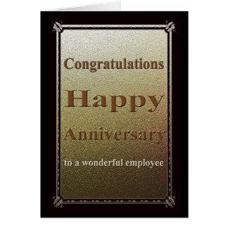Employee Anniversary Card Elegant Black