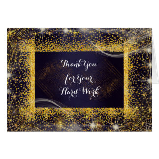Employee Anniversary Personalized Thank You Navy Card
