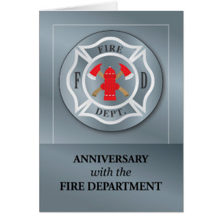 Employee Anniversary with Fire Department Silver Card
