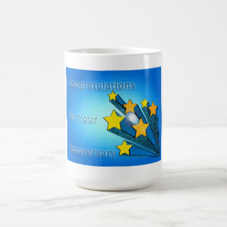 Employee Happy Anniversary Shooting Stars Coffee Mug