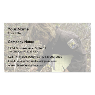 Employee Inspects Browse Survey Business Cards