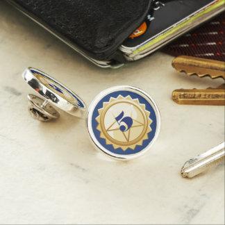 Employee milestone anniversary lapel pin faux gold