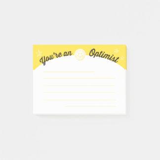 Employee motivation optimist post-it post-it notes