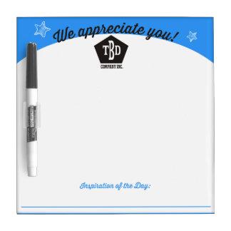 Employee motivation post-it notes board