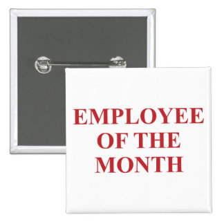 Employee of the Month 15 Cm Square Badge