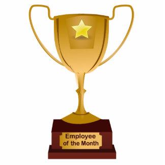 Employee of the Month Award, Golden Trophy Standing Photo Sculpture