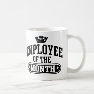 Employee Of The Month Basic White Mug