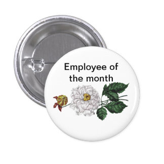 Employee of the Month Customizable 3 Cm Round Badge