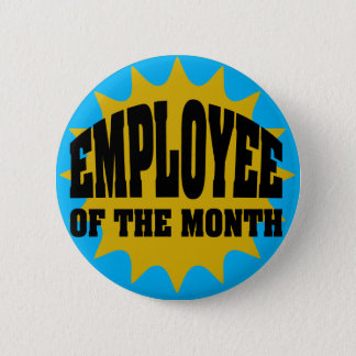 Employee of the Month gold and blue 6 Cm Round Badge