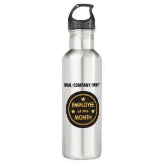 Employee of the Month with custom text 710 Ml Water Bottle
