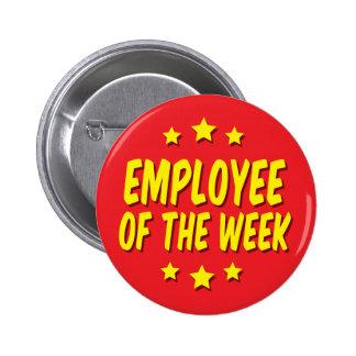 Employee of the Week 6 Cm Round Badge