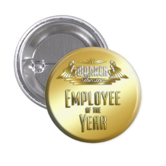Employee of the Year 3 Cm Round Badge