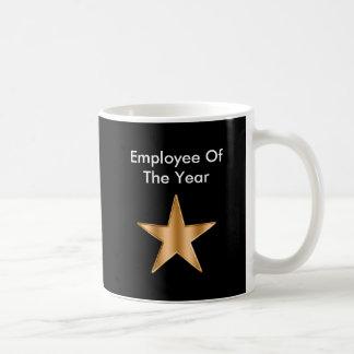 Employee Of The Year Basic White Mug