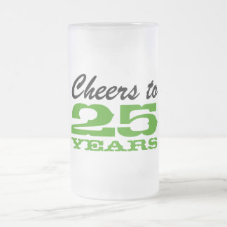 Employee recognition gift | 25th anniversary party frosted glass mug