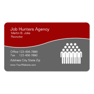 Employment Agency Business Cards Unique