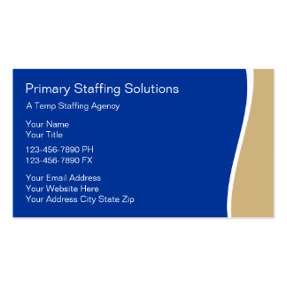 Employment Staffing Business Cards