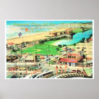 Empower Playa del Rey – 2014 ¼ Inch Border Poster